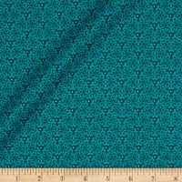 Yuna Metallic Flower Geo Teal