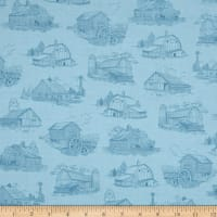 Homestead Barn Toile Blue
