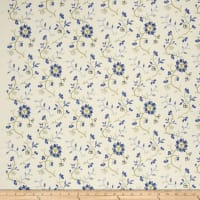 French General Emile Embroidered Linen Bleu