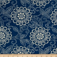 French General Tournesal Linen Indigo