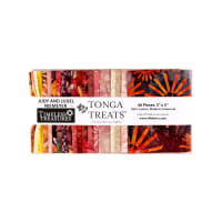 "Timeless Treasures Tonga Batik Passion Fruit 5"" Squares"