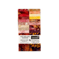 "Timeless Treasures Tonga Batik Passion Fruit 2.5"" Strips Half Pack"