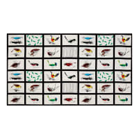 "Birch Organic Charley Harper Western Birds Western Birds 36"" Panel Patch"