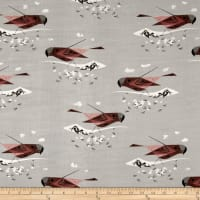 Birch Organic Charley Harper Western Birds Double Gauze Gray-Crowned Rosy Finch