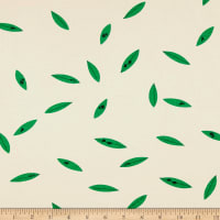 Birch Organic Charley Harper Western Birds Interlock Knit Green Leaves