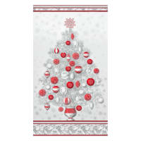 "Kaufman Winter Grandeur Metallic Tree 23.5"" Panel Winter"