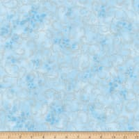 Kaufman Winter Grandeur Metallic Scroll Frost