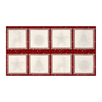 "Kaufman Winter Grandeur Metallic Block 23.5"" Panel Winter"