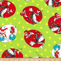 Kaufman The Cat In The Hat Christmas Circle Cats Green