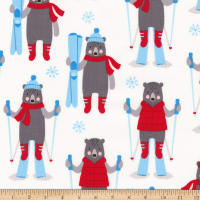 Kaufman Frosty Friends Skiers Snow