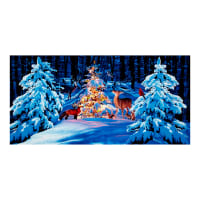 "Kaufman Woodland Glow Digital 23"" Panel Holiday"