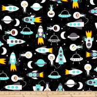 Kaufman Space Explorers Space Collage Mint