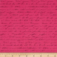 Kaufman Garden Splendor Words Pink