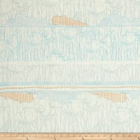 Kaufman Friedlander Border Stripe Dusty Blue