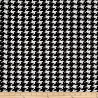 Kaufman Cotton Boucle Prints Houndstooth Black