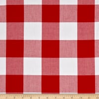 "Kaufman Carolina Gingham 2"" Crimson"