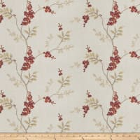 Fabricut Brookdale Embroidered Linen Garnet