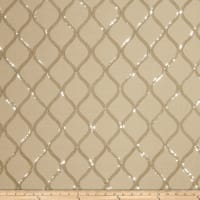 Fabricut Cubillas Shimmers Faux Silk Silver Sand