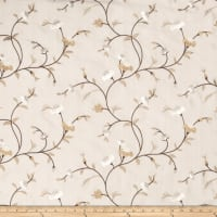 Fabricut Tablas Floral Faux Silk Latte
