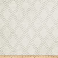 Jaclyn Smith 02615 Embroidered Linen Dove Gray