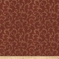 Trend 03481 Satin Jacquard Scroll Garnet