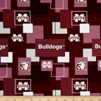Collegiate Broadcloth University of Mississippi State Block Print