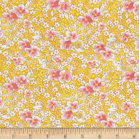 Nana Mae 1930's Medium Flower On Yellow