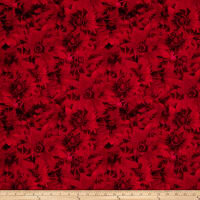 Timeless Treasures Forever Red Daisy Ruby