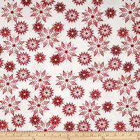Timeless Treasures Forever Snowflake Mix Peppermint
