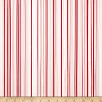 Timeless Treasures Forever Thin Stripe Red