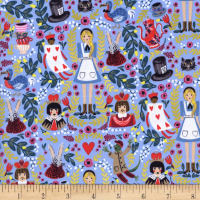 Cotton + Steel Rifle Paper Co. Wonderland Wonderland Periwinkle