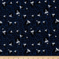 Cotton + Steel Flower Shop Rayon Challis Thistle Midnight