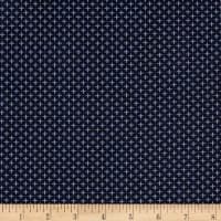 Kaufman Indikon 4.7 Oz Cotton Chambray Pluses Tight Indigo