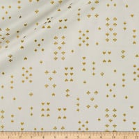 Cotton + Steel Rifle Paper Co. Wonderland Lawn Metallic Follow Suit Cream