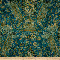 Waverly Jewel Tower Sateen Lagoon Twill