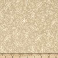 "108"" King Quilt Backs Paisley Tan"