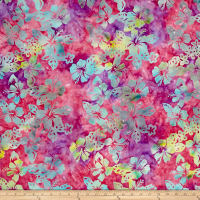 Indonesian Batik Hibiscus Purple