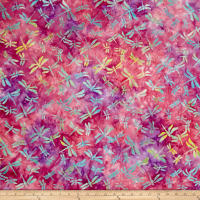 Indonesian Batik Dragonfly Pink
