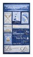 "Timeless Treasures Lake Rules 23.5"" Panel Blue"