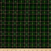 Timeless Treasures Holiday Plaids Metallic Preppy Plaid Pine