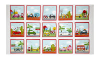 """Are We There Yet 24"""" Cars/Campers Panel Multi"""