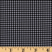 Are We There Yet Houndstooth Black