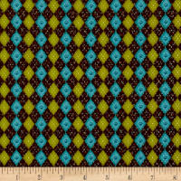 No Fowl Play Argyle Texture Brown