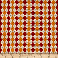 No Fowl Play Argyle Texture Tan