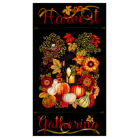 "Harvest Gathering 24"" Harvest Panel Black"