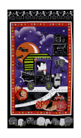 "Fangtastic Glow In The Dark 23.5"" Halloween Panel Black"