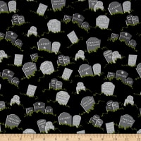 Fangtastic Glow In The Dark Grave Stones Black
