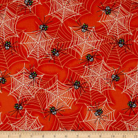 Fangtastic Glow In The Dark Spiders & Webs Orange