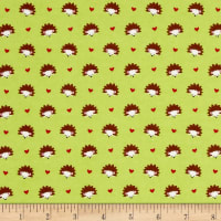 Michael Miller Flannel Hedgehog Heaven Lime