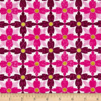 Michael Miller Indian Summer Tea Flower Magenta